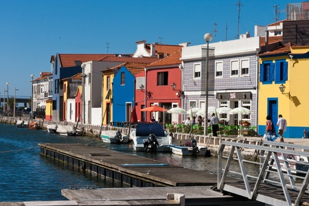 Aveiro canals in Portugal