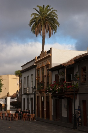 Teror Old Town Streets and Square