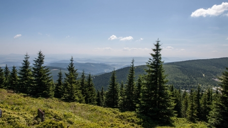 Karkonosze Mountain View in Poland