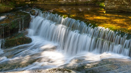 polska: Szklarki Waterfall in Karkonosze Mountains in Poland Stock Photo