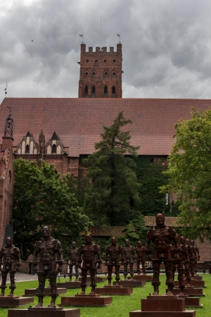 Malbork Castle in Poland in the summer
