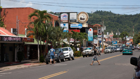 developing country: Jaco town in Costa Rica Editorial