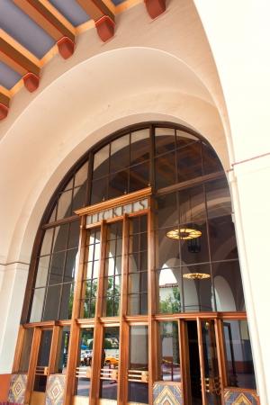 national landmark: Union Station � un monumento nazionale nel centro di Los Angeles, California