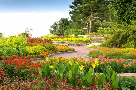 Formal Garden at Minnesota Landscape Arboretum Stock Photo - 15498655