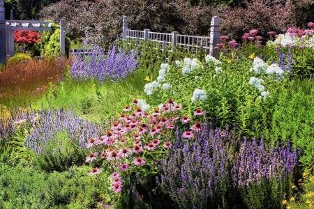 The Griggs/Burke Annual Garden at the Minnesota Landscape Arboretum Stockfoto