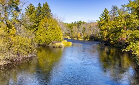 Namekagon River at Groats Landing near Hayward, Wisconsin Zdjęcie Seryjne