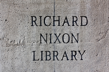 politican: YORBA LINDA, CAUSA - FEBRUARY 8, 2010 - The Richard Nixon Presidential Library and Museum is the birthplace, presidential library, and final resting place of Richard Nixon, 37th President of the United States.