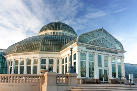 conservatory: ST  PAUL, MN USA - November 19, 2010  The Marjorie McNeely Conservatory is a 60,000 square feet dome style greenhouse and is on the National Register of Historic places   November 19, 2010  Editorial