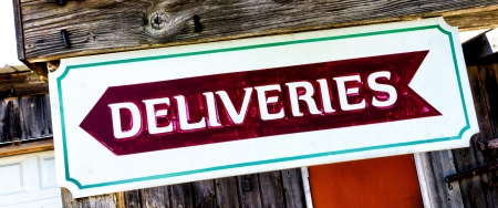informs: Delivery Sign Informs Delivery Drivers