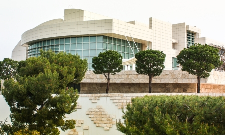 LOS ANGELES, CA - MARCH 21:The Getty Center is a museum founded by noted oilman J. Paul Getty.  The 1.3 billion center overlooks Los Angeles and is known for its architecture, gardens, and city views. Los Angeles, CA, March 21, 2010.