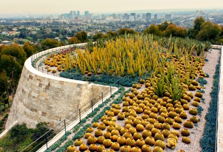 opulence: LOS ANGELES, CA - MARCH 21:The Getty Center is a museum founded by noted oilman J. Paul Getty.  The 1.3 billion center overlooks Los Angeles and is known for its architecture, gardens, and city views. Los Angeles, CA, March 21, 2010.