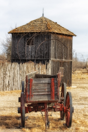 great plains: Discarded Wagon in the Great Plains