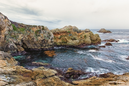 Spectacular Rock Formations at Point Lobos State Natural Reserve photo