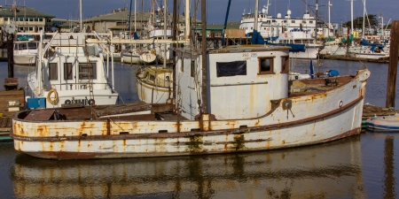 dingy: Boats at Moss Landing Harbor, California