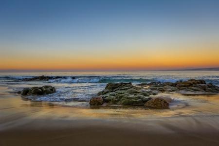California Gold Sunset at Monterey Bay