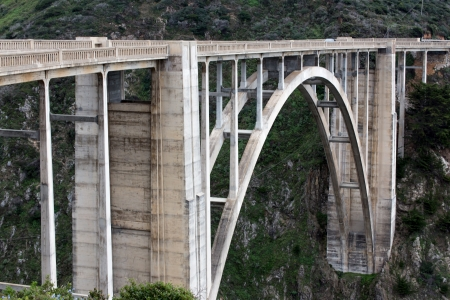 bixby: Famous Bixby Bridge in Big Sur, California.
