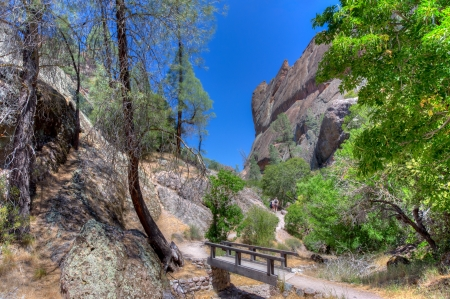 alpine zone: Pinnacles National Park in Monterey County, California. Stock Photo