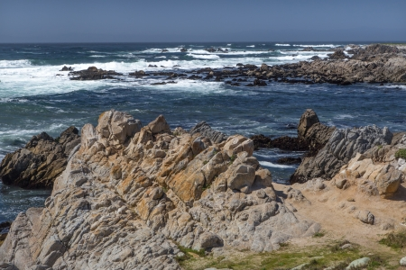 big sur: Seascape View of the Pacific Ocean from 17 Mile Drive Stock Photo