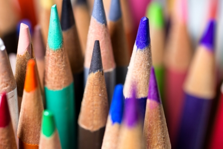 Grouping of Colored Pencils photo
