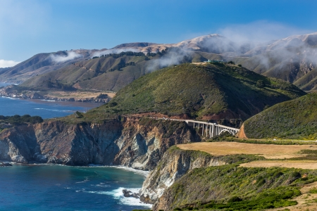 De Historische Bixby Bridge at Big Sur, Californië