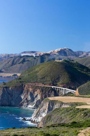 Vertical Image of the Historic Bixby Bridge at Big Sur, California  Stockfoto