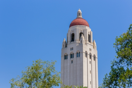 hallowed: STANFORD, UNITED STATES - July 6:  Hoover Tower on the campus of  Stanford University. The tower houses the Hoover Institution of Library and Archives and is named after Herbert Hoover, the 31st President of the United States. July 6, 2013.