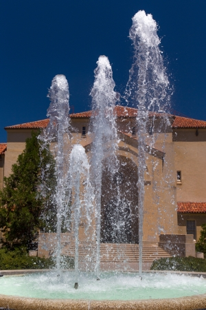 university fountain: STANFORD, UNITED STATES - July 6: Stanford Hoover Tower Fountain on the campus of historic Stanford University. July 6, 2013. Editorial