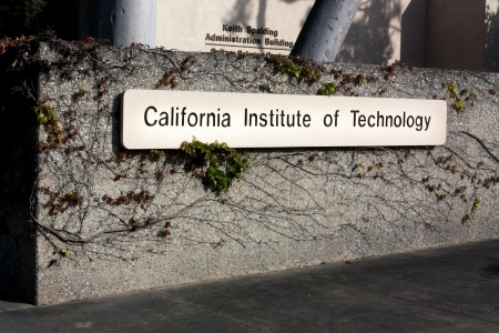 institute of technology: PASADENA, CAUSA - March 13: Entrance Sign to the California Institute of Technology. Caltech is a research university in Pasadena, CA and home to 32 Nobel Prizes. March 13, 2011.