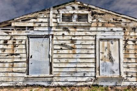 Dilapidated  and Peeling Exterior Wood Wall Backdrop