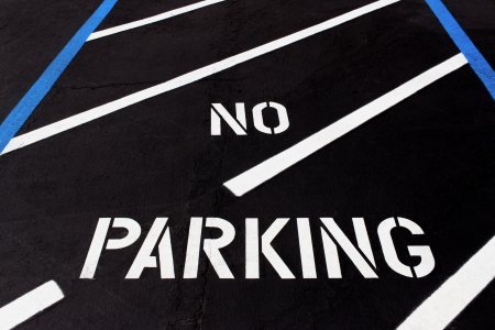No Parking Painted on Parking Lot for Handicapped Stock Photo - 22121810