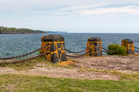 civilian: Vintage Fence and Barrier Along Lake Superior Built by Civilian Conservation Corps
