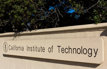 institute of technology: PASADENA, CAUSA - October 1: Entrance Sign on campus of the California Institute of Technology. Caltech is a research university in Pasadena, CA and home to 32 Nobel Prizes. October 1, 2013.