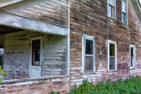 dilapidated: Abandoned and Dilapidated House in Rural United States
