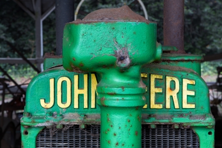 Antique John Deere Tractor Grille Editorial