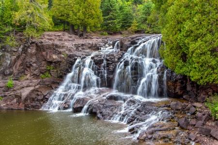 north shore: Upper Falls of Gooseberry Falls Along Minnesotas North Shore