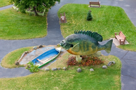 freshwater fishing: HAYWARD, WIUSA - SEPTEMBER 28:  The National Freshwater Fishing Hall of Fame is a non-profit museum statues of American freshwater fish. September 28, 2013.