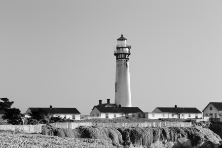 Pigeon Point Lighthouse Black and White photo