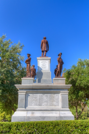 AUSTIN,TXUSA - NOVEMBER 15: Confederate Soldiers memorial on the grounds of the Texas State Capitol honor Confederate soldiers of the American Civil War. November 15, 2013