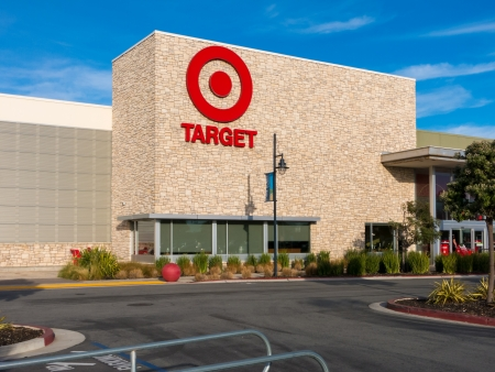 headquartered: MARINA, CAUSA - DECEMBER 30, 2013: Exterior view of a Target retail store. Target Corporation is an American retailing company headquartered in Minneapolis, Minnesota. It is the second-largest discount retailer in the United States.