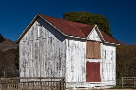 Old White Weathered Wood Barn in American West