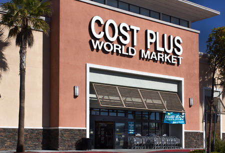 world market: SEASIDE, CAUSA - FEBRUARY 5, 2014: Cost Plus World Market store in Seaside, California  Cost Plus World Market is a import retail stores and a subsidiary of Bed Bath & Beyond.