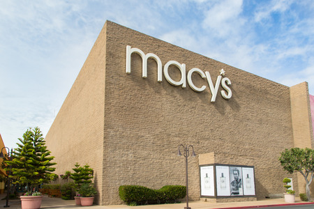 macys: SALINAS, CAUSA - FEBRUARY 8, 2014: Macys store in Salinas California.  Macys is a mid-range to upscale chain of department stores owned by American multinational corporation Macys, Inc. Editorial