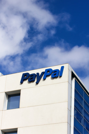 SAN JOSE, CA/USA - MARCH 1, 2014:  PayPal Corporate Headquarters Sign. PayPal is an international e-commerce business allowing payments and money transfers to be made through the Internet. Stock Photo - 26557480