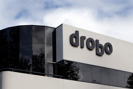 SAN JOSE, CAUSA - MARCH 1, 2014:  Drobo corporate headquarters building. Drobo manufactures redundant external storage assemblies for computers.
