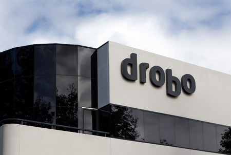 building external: SAN JOSE, CAUSA - MARCH 1, 2014:  Drobo corporate headquarters building. Drobo manufactures redundant external storage assemblies for computers.