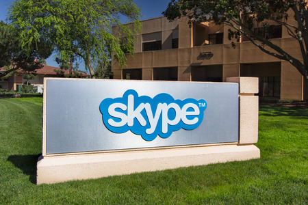 microsoft: PALO ALTO, CAUSA - MARCH 16, 2014: Skype Corporate Building in Silicon Valley.  Skype is a voice-over-IP service and instant messaging client,developed by  Microsoft.