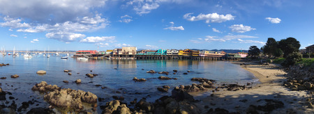 monterey: Monterey Bay Panorama Stock Photo