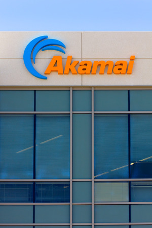 SANTA CLARA,CAUSA - MAY 11, 2014: Akamai building in Silicon Valley. Akamai is an Internet content delivery network and a distributed-computing platform.