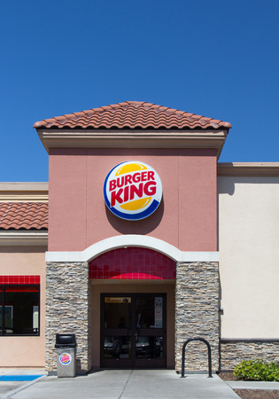 SALINAS, CAUSA - JUNE 1, 2014: Burger King restaurant exterior. Burger King is chain of hamburger fast food restaurants headquartered the United States.
