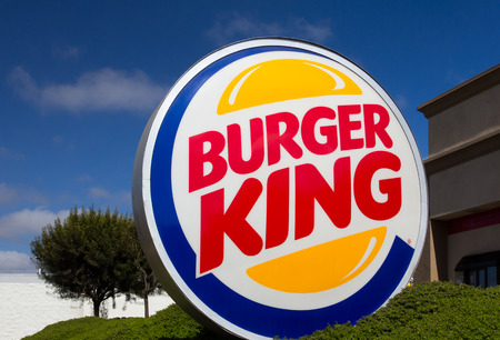 SALINAS, CAUSA - JUNE 1, 2014: Burger King restaurant exterior. Burger King is chain of hamburger fast food restaurants headquartered the United States.